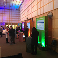 Example of custom trade show designed by Platform Productions Inc.
